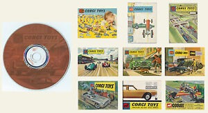 Corgi Toys Catalogues 1958 1959 1960 1961 1963 1965 to 1969 on a High Quality CD