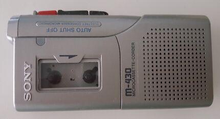 Sony Micro Cassette Retro Mini Tape Recorder Voice Playback M-430