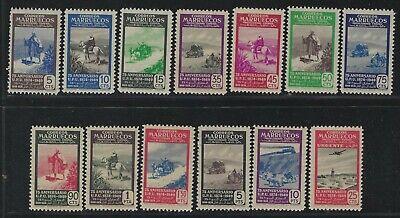 1950 Spanish Morocco Scott #280-291 + E11 - UPU 75th Anniversary Set of 13 - MNH