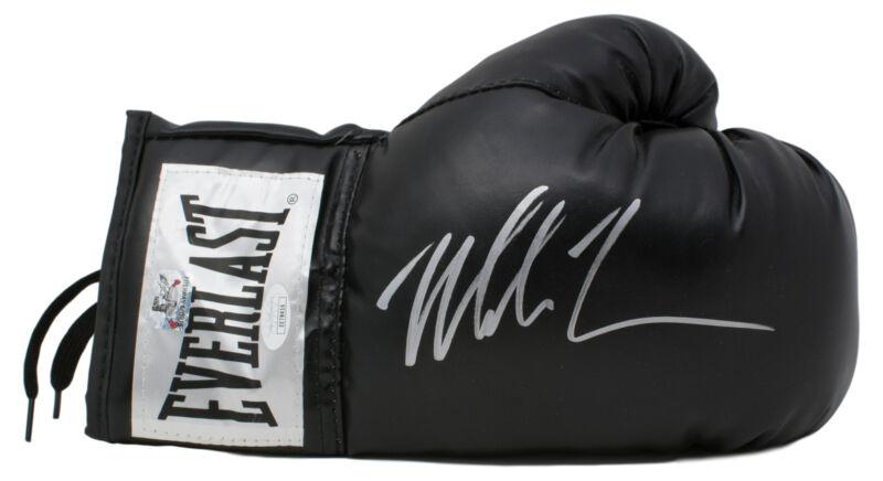 Mike Tyson Signed Right Black Everlast Boxing Glove JSA
