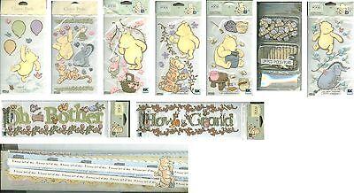 Classic Winnie The Pooh Border (DISNEY CLASSIC WINNIE THE POOH TIGGER EEYORE PIGLET HONEYPOT Border Sticker)