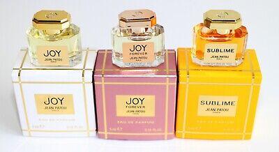 Jean Patou Miniature Collection 5ml each of Joy, Sublime & Joy Forever EDP