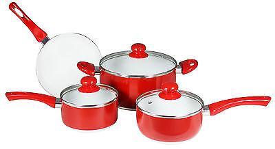 CONCORD 7 PC Eco Healthy Ceramic Nonstick Cookware Set Saucepan Dutch Oven Fry