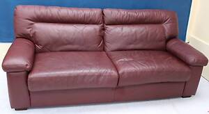 Genuine Leather Lounge MORAN 2.5 Seater SOFA COUCH Noble Park Greater Dandenong Preview