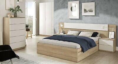 Pack habitacion Alba II 150x190 cm (cama+cabezal+2 mesitas+armario+sinfonier)