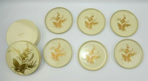 Vintage 6 Otagiri Cho-Cho Melamine Coasters W/ Holding Box Made in Japan MCM