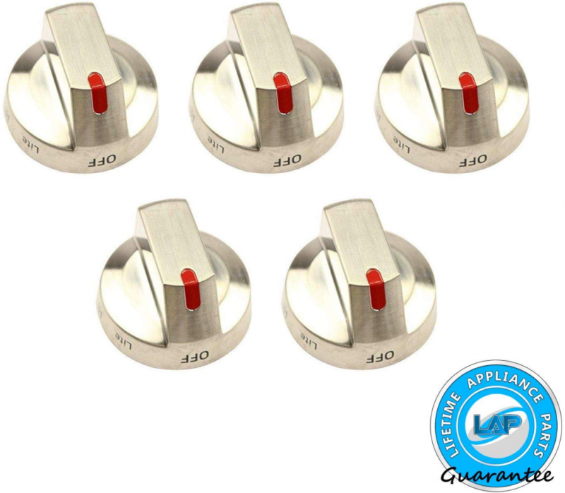 DG64-00473A Burner Control Dial Knob Range Oven Replacement Stainless Steel Compatible with Samsung Range Oven Gas Stove Knob NX58F5700WS NX58H5600SS NX58H5650WS NX58J7750SS