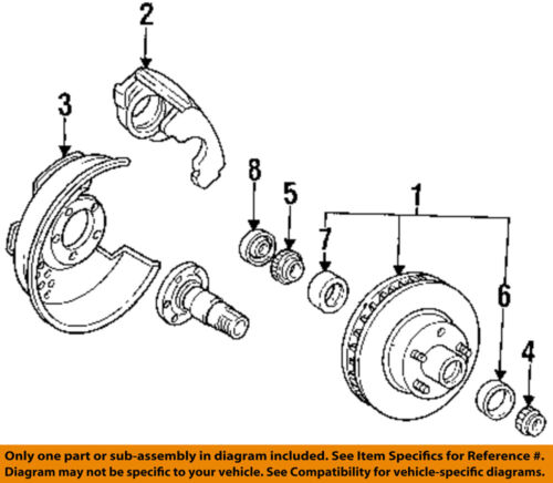 1989 ford ranger engine diagram ford oem 93 97 ranger front wheel bearing b7a4222b ebay  ford oem 93 97 ranger front wheel