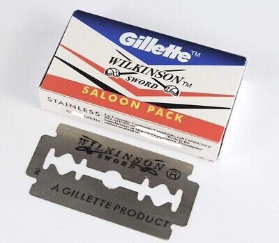 Gillette Wilkinson Sword SS Steel Double Edge Safety Razor Blades Free Shipping