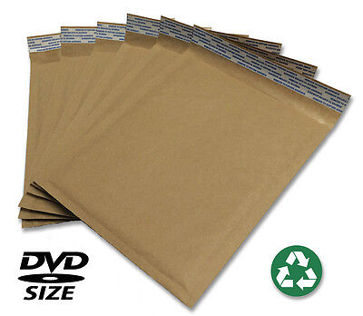 Size 0 6.5x9 Recycled Natural Brown Kraft Bubble Mailer Usa Made
