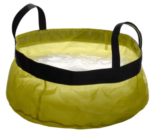 """2.5 Gallon Yellow Collapsible Camping Backpacking Sink With Handles 12"""" x 6"""""""