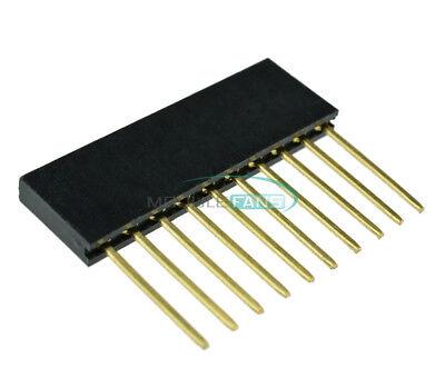 50pcs 2.54mm 10-pin Stackable Long Legs Femal Header For Arduino Shield