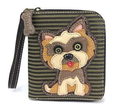 Charming Chala Yorkie Yorkshire Terrier  Purse Wallet Credit Cards Coins Wristle Yorkshire Terrier Wallet