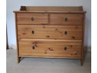 IKEA Leksvik Chest of Drawers Dresser Brown Wooden Furniture Dressing Table Ikea Hack Good Condition