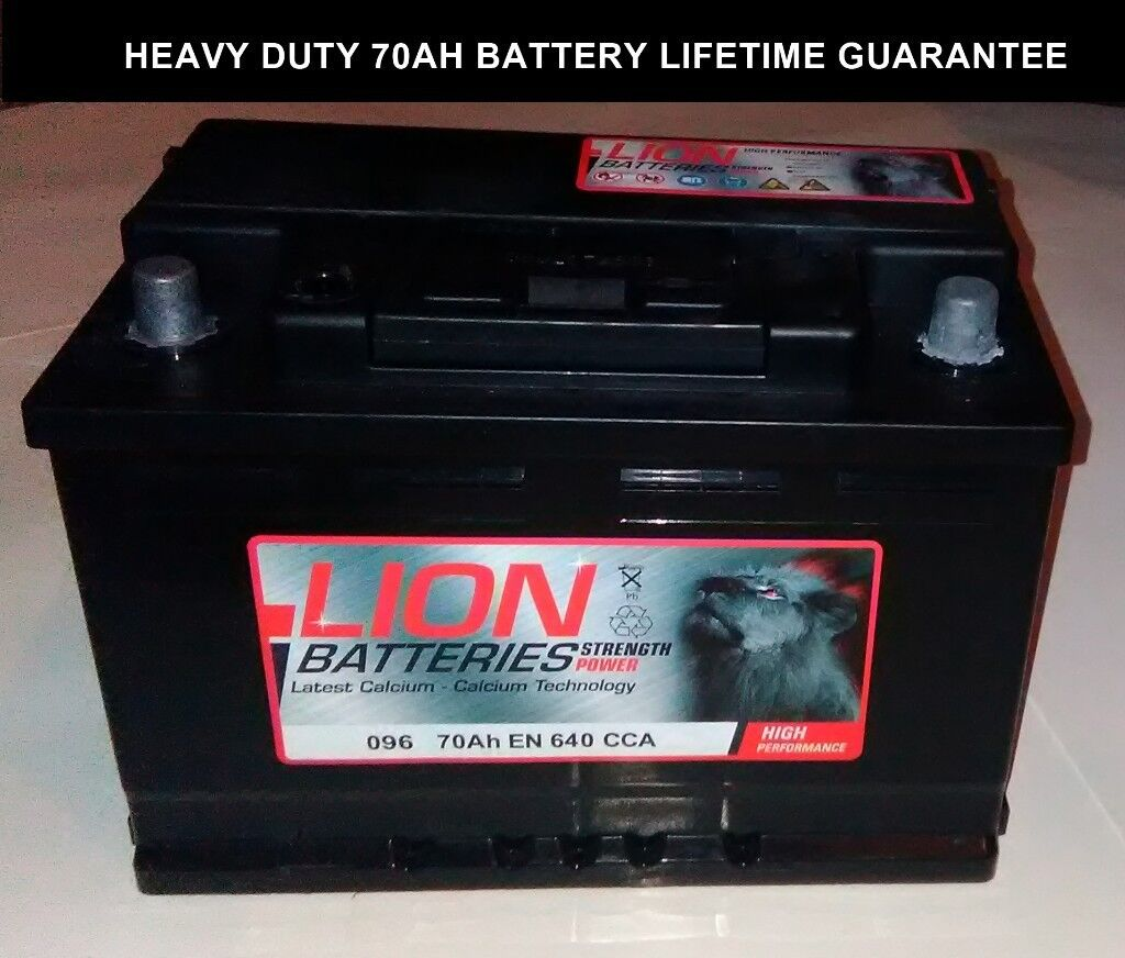Lion Car Battery Like New With Written Lifetime Guarantee 096 70ah Fully Charged