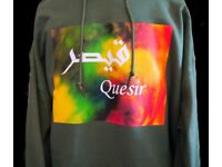 Green Unisex named Arabic and English Hoodies