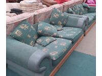 Very Comfy Pair Of Green 2 Seater Sofa (Local delivery available £5-£10)