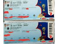2 x Unused Fifa World Cup 2018 Tickets - Match #63, 3rd Place Match - St Petersburg, 14th July!