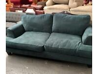 ** LOVELY TEAL TWO SEATER SETTEE IN GOOD CONDITION ** CAN DELIVER **