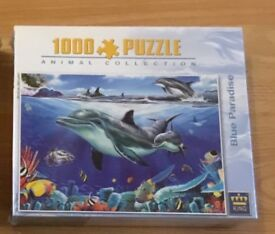 1000 piece Puzzel of dolphins New Never Opened