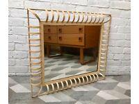 Vintage Industrial Wall Mirror Rectangular Metal #556