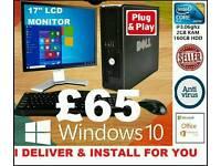WINDOWS 10 PC DESKTOP COMPUTER..I DELIVER & INSTALL 4U