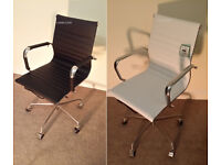 BRAND NEW EAMES RIBBED BLACK OR WHITE OFFICE CHAIRS BOARDROOM RECEPTION CHAIRS