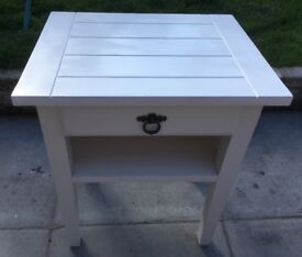 Laura Ashley white side Table