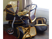 Baby pram, car seat and carry bag in good condition for sale - £15 ono