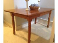 Solid Pine Farmhouse Kitchen Dining Table 150cm x 80cm