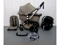 Bugaboo Cameleon Classic 3rd Generation in KHAKI.Full travel system