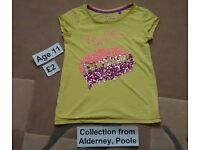 Girls T Shirt Top - Age 11