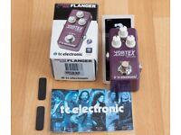 TC Electronic Vortex Mini Flanger pedal. New.