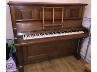 Upright Piano manufactured by Edgar Horne & Co. (Derby)