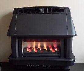 Robinson Willey Firecharm 4.78 KW Outset Gas Fire ( All Black )