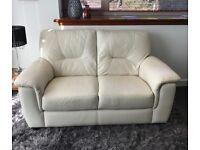 Sofa - Leather 2 Seater - Cream