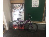 """BMX FoXy Snub purple & white 11"""" Inch"""