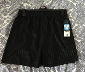 Black Pair of school shorts for ages 13-14 - new with tags
