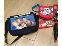 Set of One Direction bags & umbrella