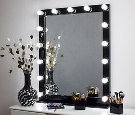 Large LED Hollywood Vanity Makeup Mirror With Bulbs Lighted Mirror 800х1000 mm