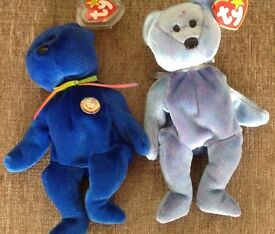 Ty Beanie Babies Clubby and Clubby II with tags