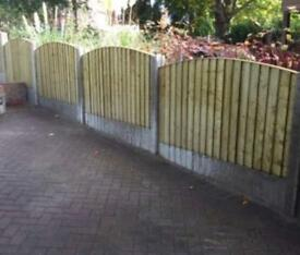 💧Excellent Quality Bow Top Feather Edge New Fence Panels