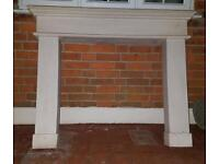 Solid Stone Fire Surround.