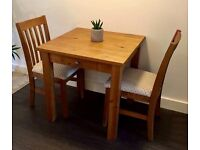 Solid pine dining table +2 chairs NEXT Hartford Range