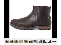 Caterpillar Cat Rivingston Chelsea Leather Boots Brown, size 9, Brand new in box