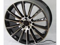 MERCEDES AMG TURBINE STYLE 20INCH ALLOY WHEELS STAGGERED E-CLASS S -CLASS GLA