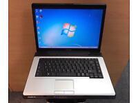 Toshiba Fast Laptop, 320GB, 3GB Ram, Dual-Core, Windows 7, Microsoft office, VGood Condition