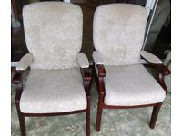 Matching Pair of Cintique Chairs - Extremely Comfortable and Well Loved
