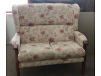 Settee and two armchairs