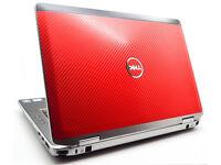 "Dell Notebook Webcam Laptop DVD/RW 14"" Screen, WiFi - Office etc BARGAIN + Red Lid"